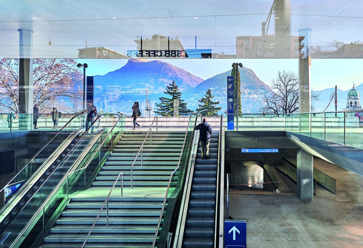 Umbau Bahnhof Lugano von Lorenzo Felder und Gruppo Stazlu. Bild: Marcelo Villada Ortiz