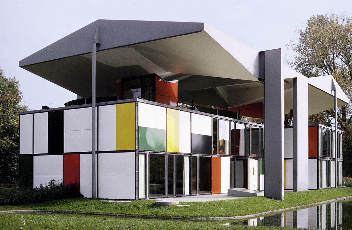 Der Pavillon Heidi Weber am Zürichhorn in einer Aufnahme von ungefähr 1967.