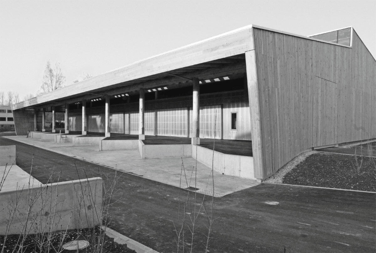 Recyclingstützpunkt in Saint-Prex von Pont 12 architectes.
