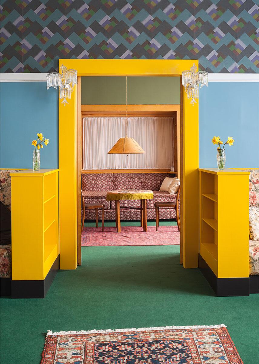 Haus Brummel Husova 58, Plzeň, PAM–Objekt C2 – 741  Die Räume für die Mutter überraschen durch ihre Farbigkeit. Eingerichtet von Adolf Loos.