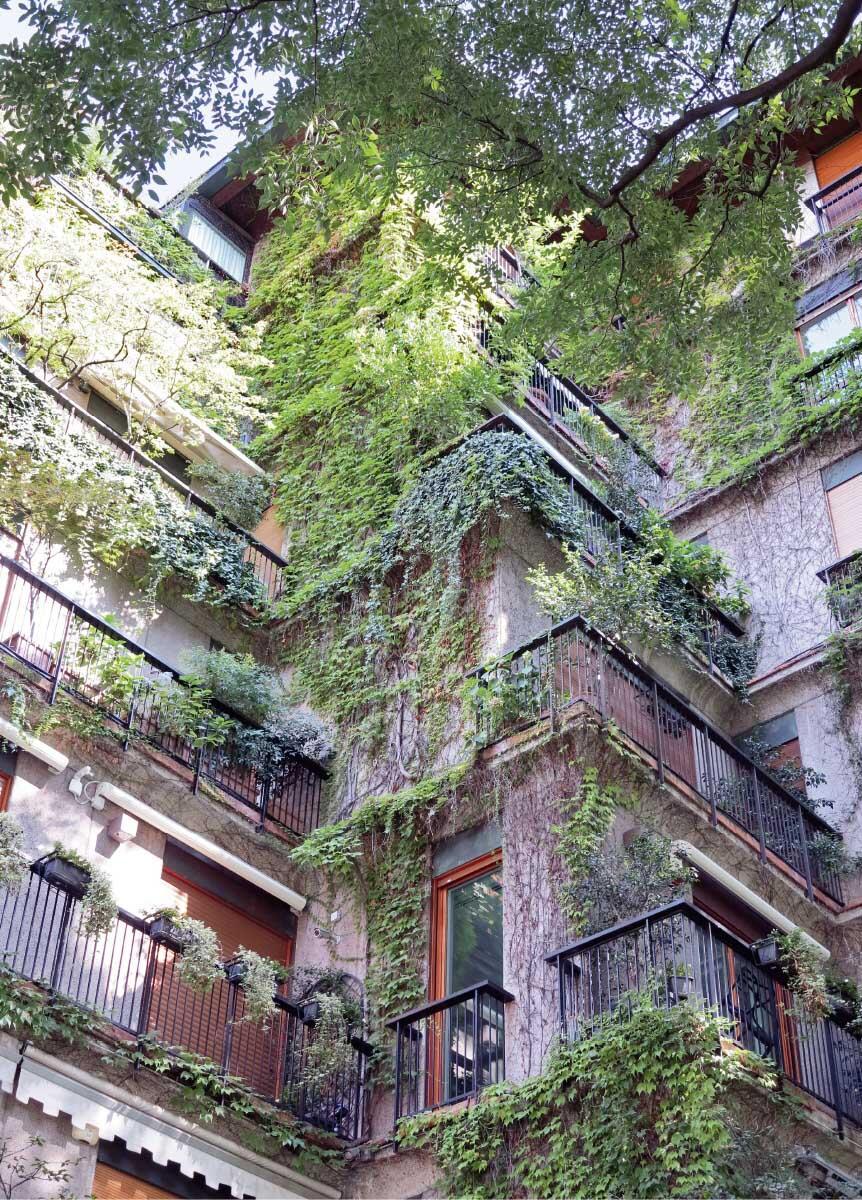 Ein Terrassenhaus mitten im Zentrum von Mailand verkörpert den Traum einer Versöhnung von Stadt und Natur. Bild: Martin Feiersinger
