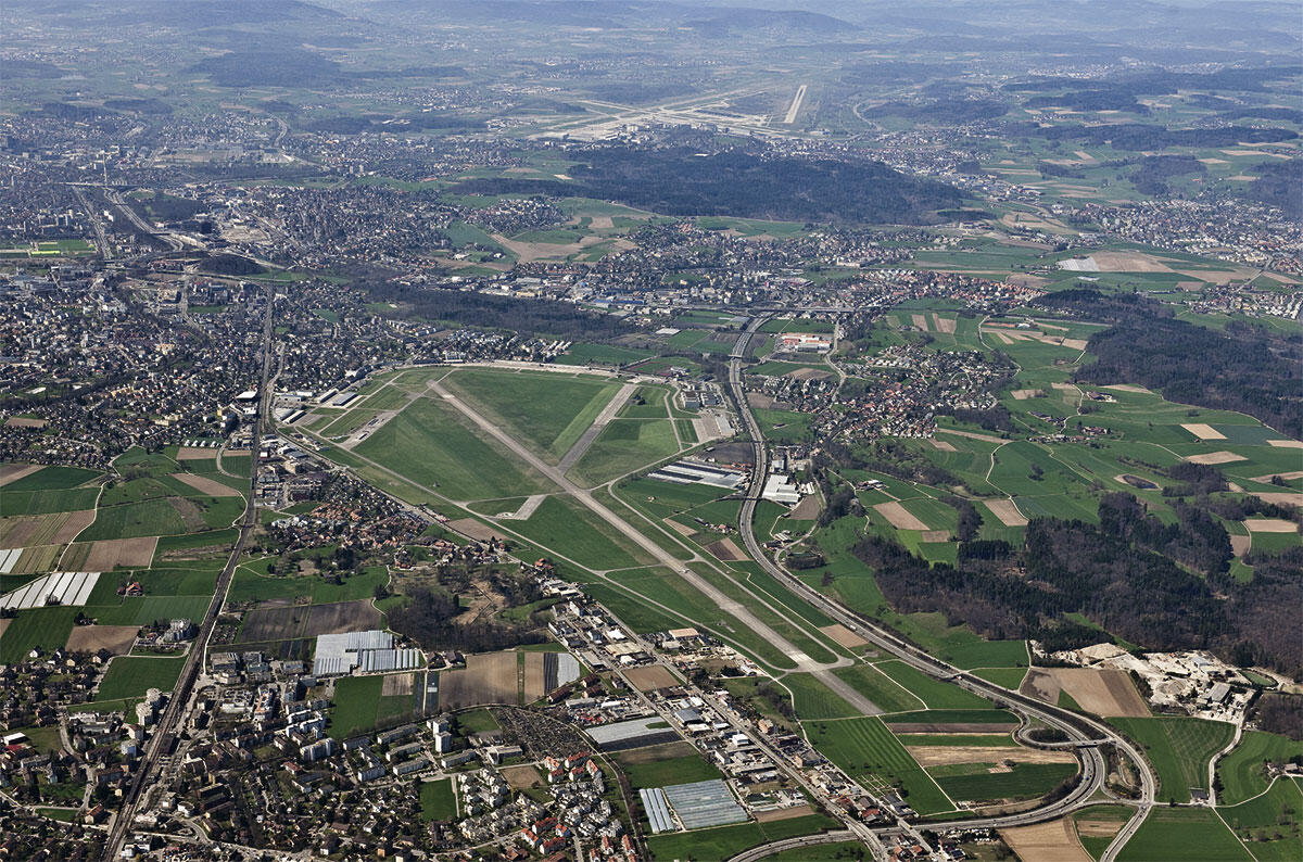 Der Militärflugplatz Dübendorf im Zürcher Glattal.