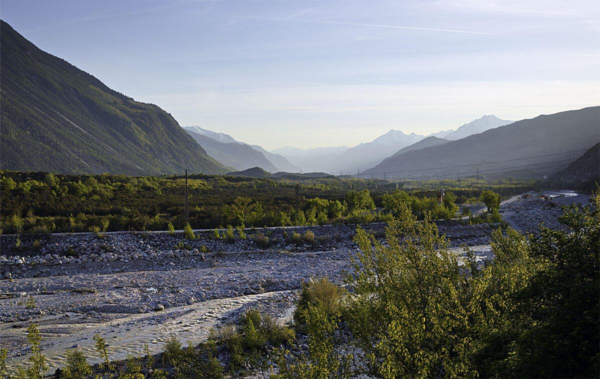 Der Pfynwald trennt den französischsprachigen Kantonsteil vom deutschsprachigen Oberwallis. Er ist eines der letzten Naturreservate im Talboden der Rhone.