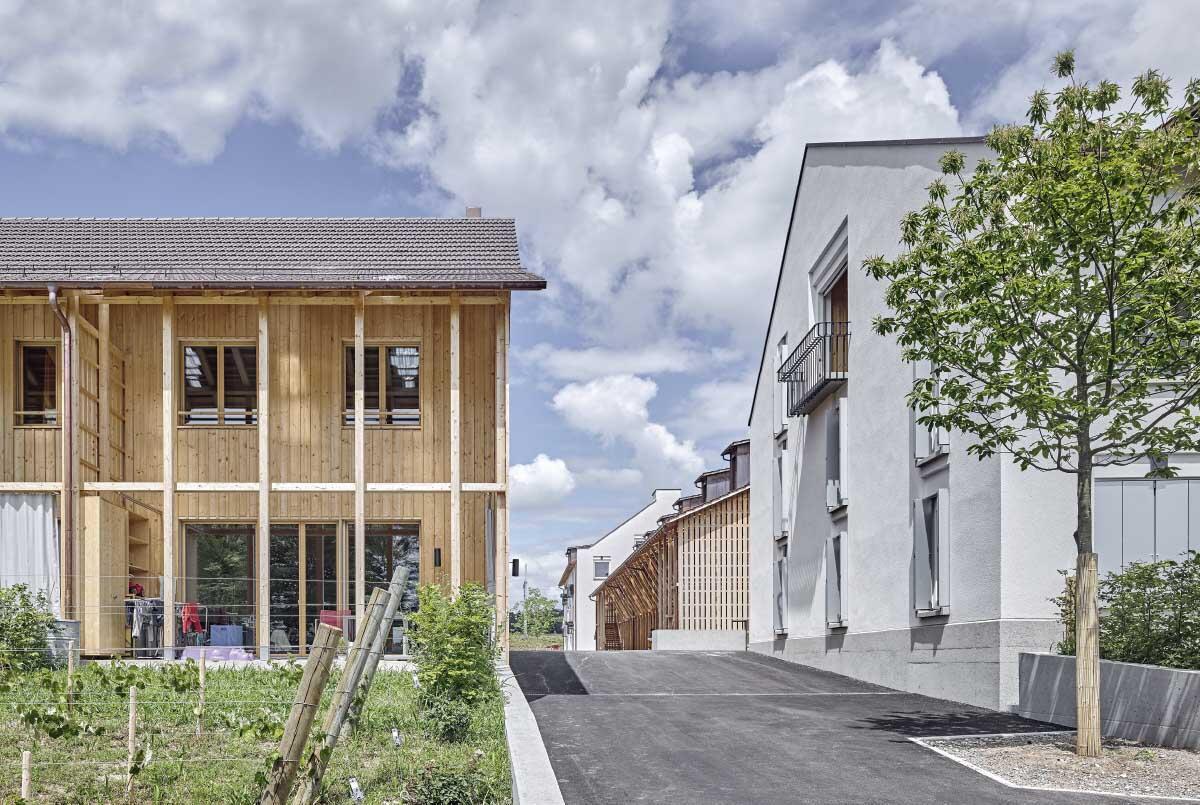Die Siedlung Orenberg in Ossingen ZH von BDE Architekten Bild: Roger Frei