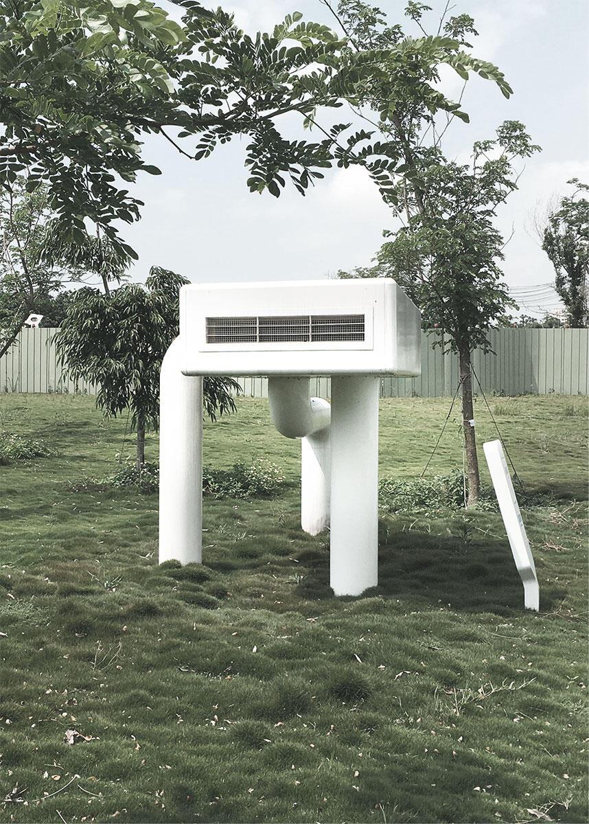 Architektur schuf immer auch ein künstliches Klima für den Menschen. Hier versorgt ein Gerät mit dem Namen Desert Wind die Besucher des Jade Eco Parks von Philippe Rahm mit warmer und trockener Luft.