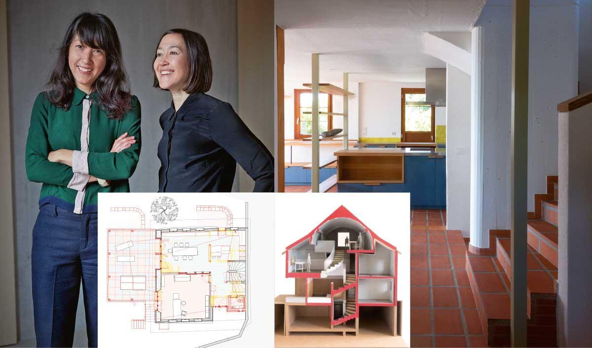 Das Haus mit seinen Spuren und baulichen Veränderungen ist für die Architektinnen ein Erinnerungsspeicher.  Bilder: Matthias Brücke, Judith Stadler (Porträt)