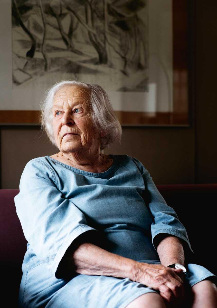 Beate Schnitter feierte im August 2019 ihren 90. Geburtstag.  Bild: Joël Hunn, NZZ