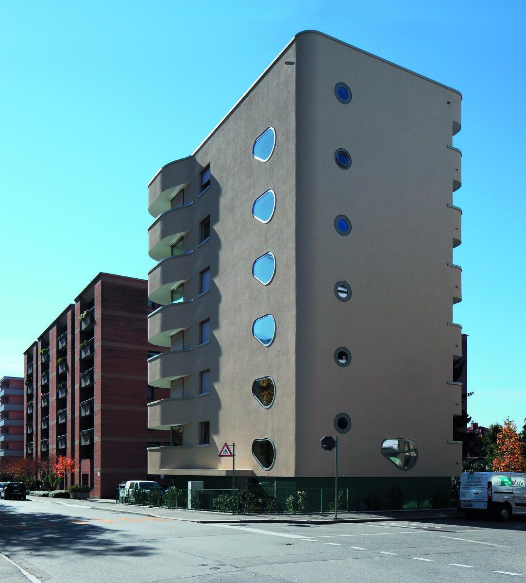Wohngebäude in Lugano von Studio Meyer e Piattini. Bild: Paolo Rosselli