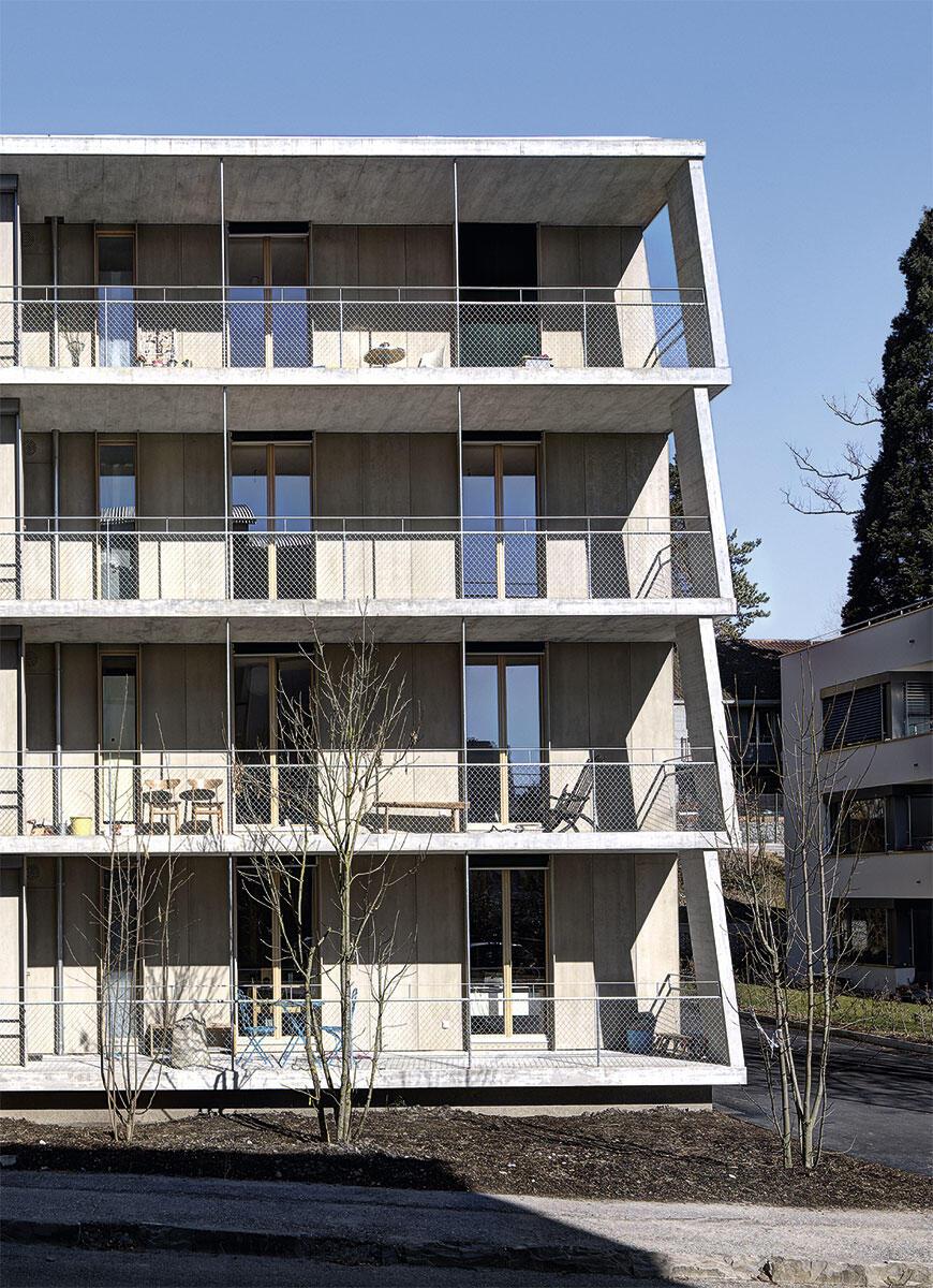 Geschosswohnungen in der Stadtvilla von 0815 Architekten.