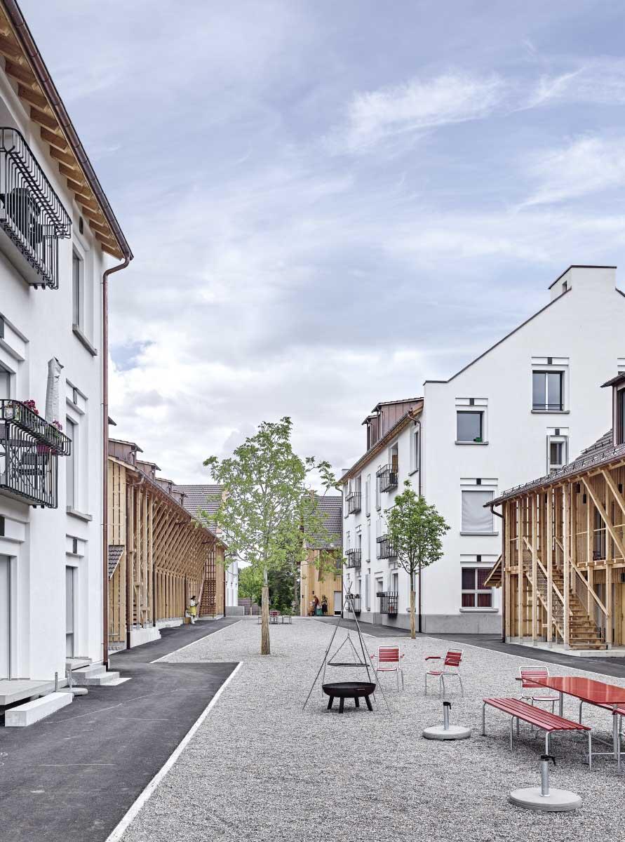 Die Siedlung Orenberg in Ossingen ZH von BDE Architekten.  Bild: Roger Frei
