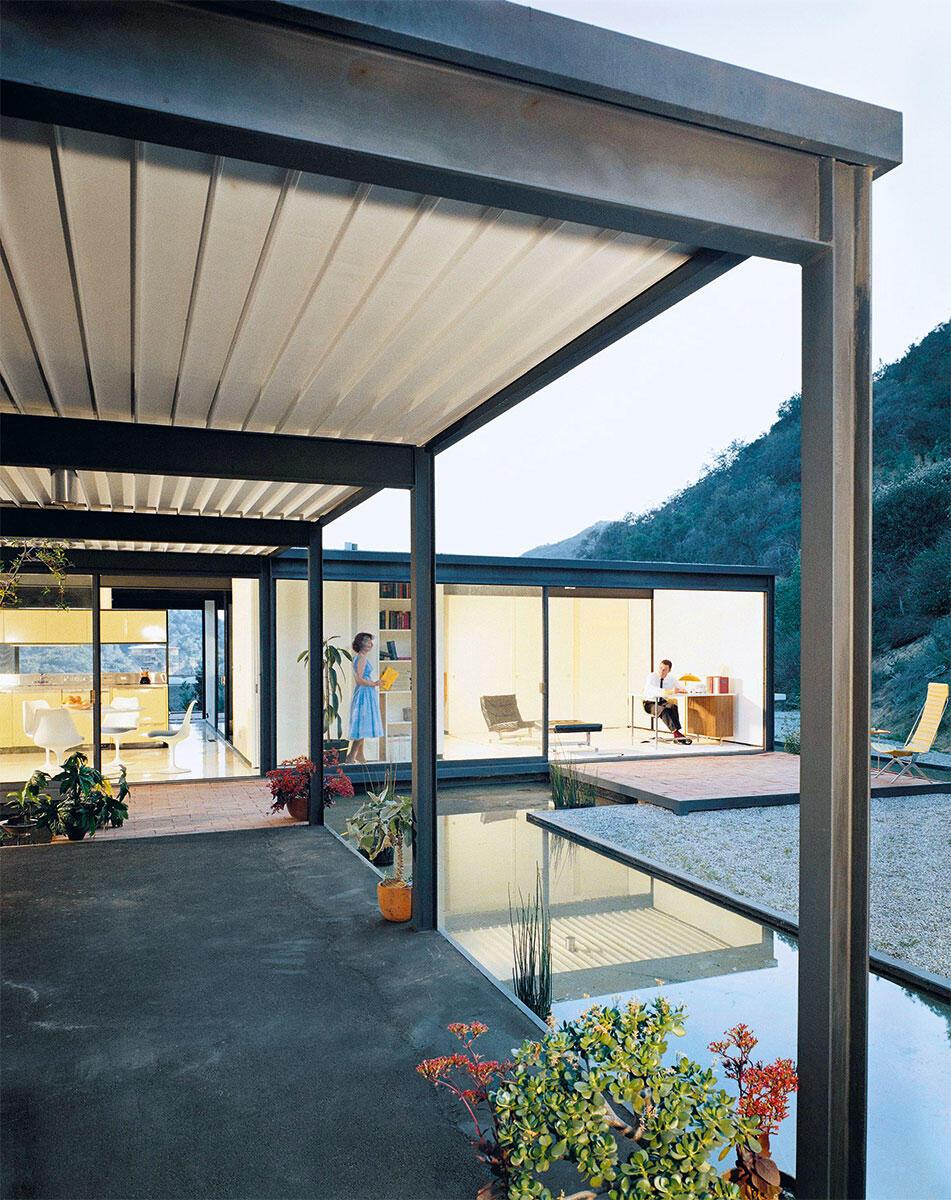 Inbegriff von Modernität und Stahlbau: Das Case Study House #21(b) von Pierre Koenig, erbaut 1959.