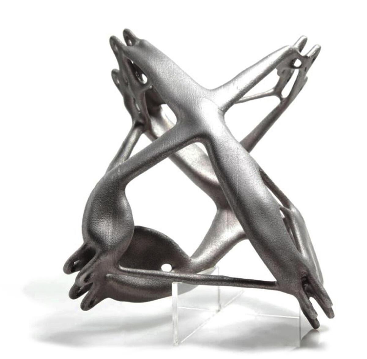 SmartNode, vom Royal Melbourne Institute of Technology zusammen mit Arup entwickelt: Der Stahl erhält an einer ganz bestimmten Stelle in der Struktur eine präzise Form.