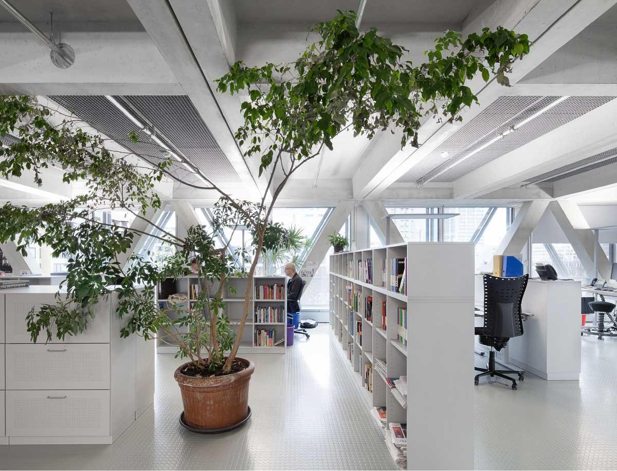Über Betonstruktur und Noppenboden hat sich eine «Schicht TAZ drüber gelegt», wie es der Geschäftsführer Karl-Heinz Ruch formuliert.  Bild: Yasu Kojima