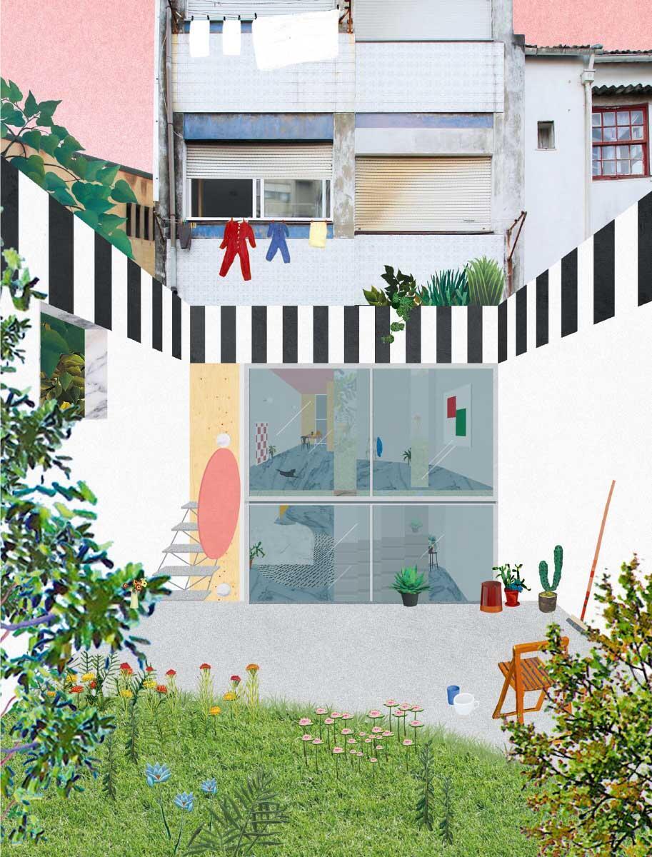 Eine typische Aufwertungs-Aufgabe: Aus einer einstigen Hofdurchfahrt und Garage collagieren FALA eine magische Welt (Projekt 090, Uneven House). Bild: Ricardo Loureiro, FALA