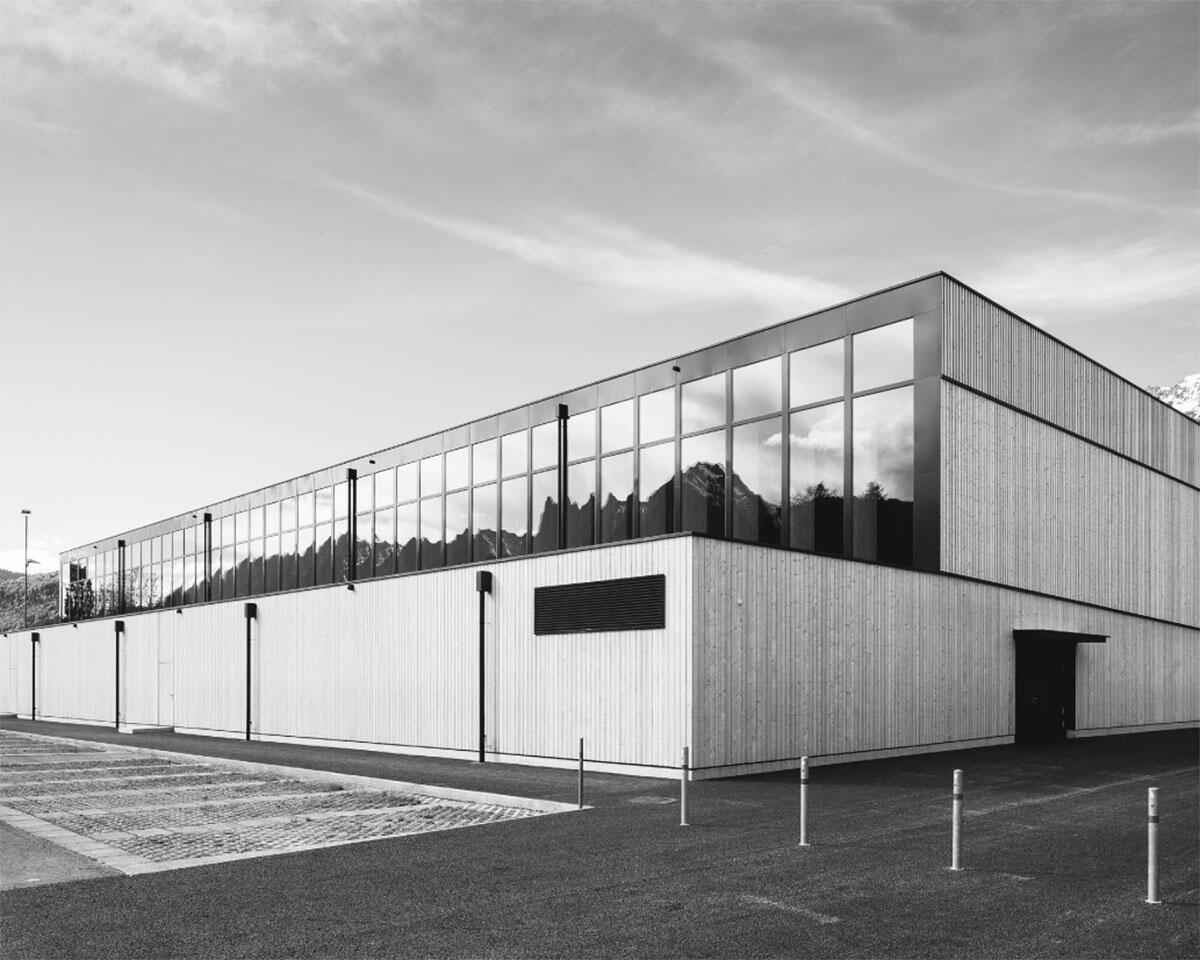 Sportzentrum Sargans: Ansicht von Norden.