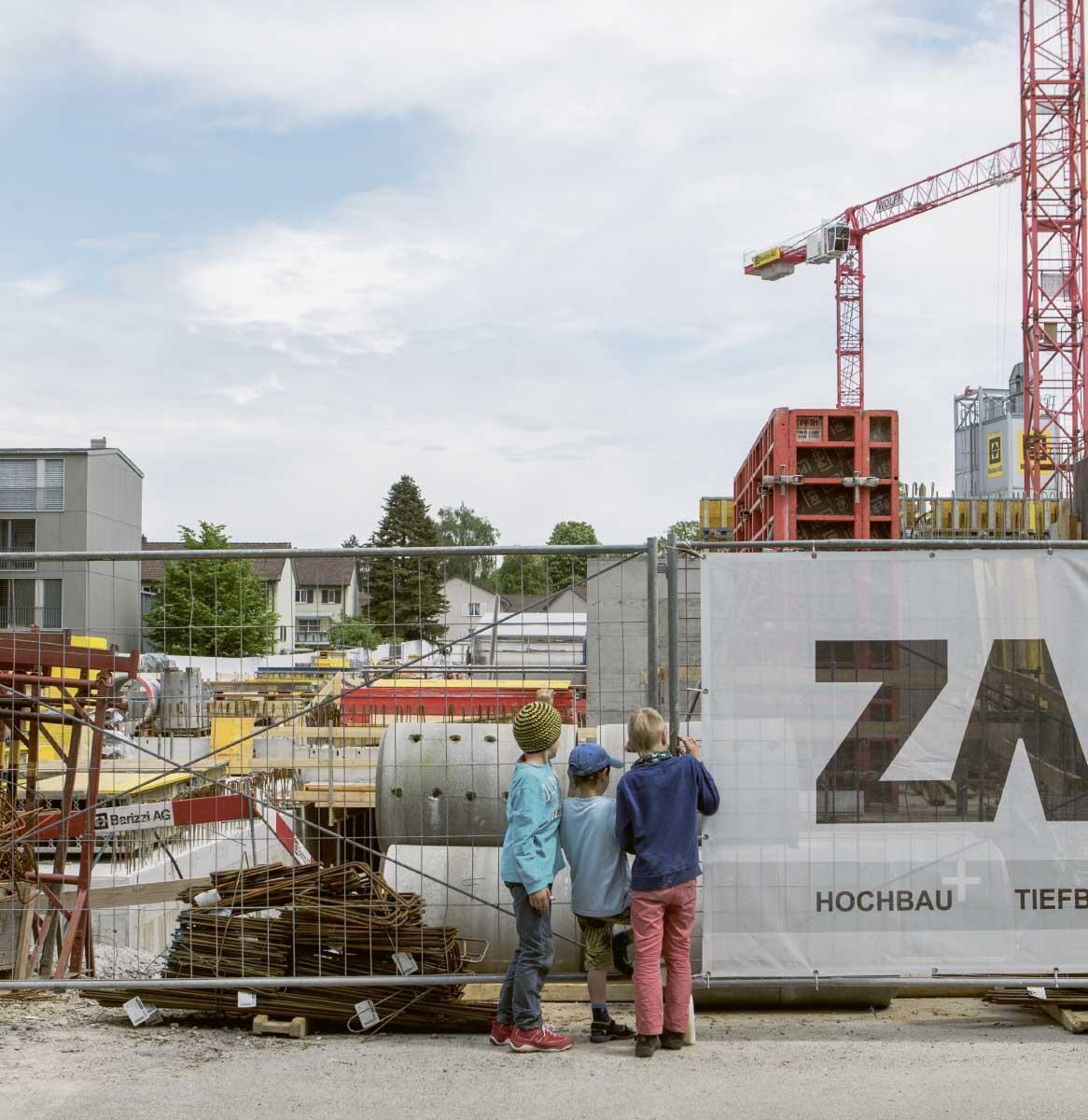 Grossbaustelle Riedgraben in Zürich-Schwamendingen. Bild: Saskja Rosset