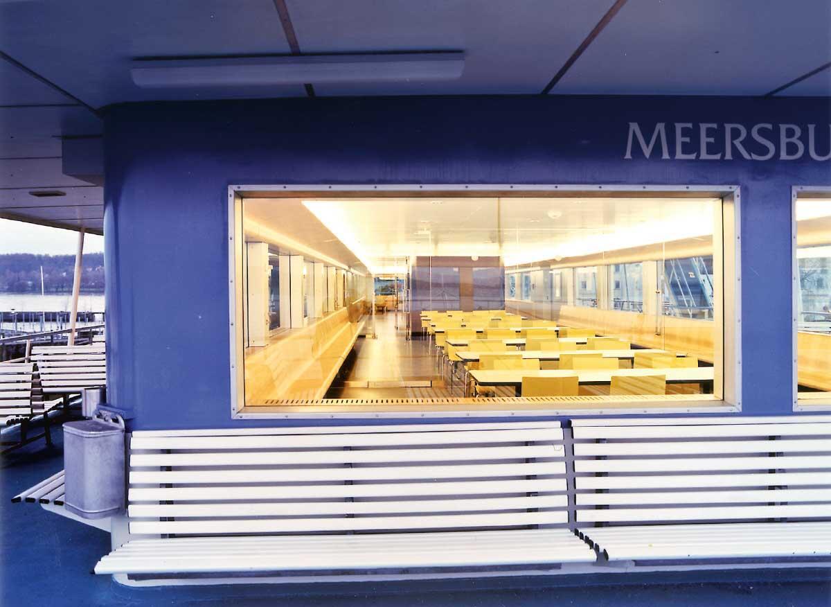 Immagini e piani della sala passeggeri del traghetto Meersburg Martina Meier (immagini)