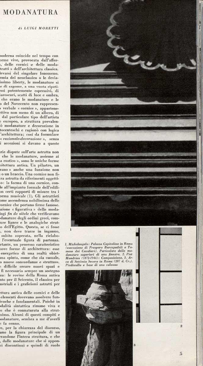 Luigi Moretti publizierte 1950 – 53 sieben Nummern der Zeitschrift Spazio