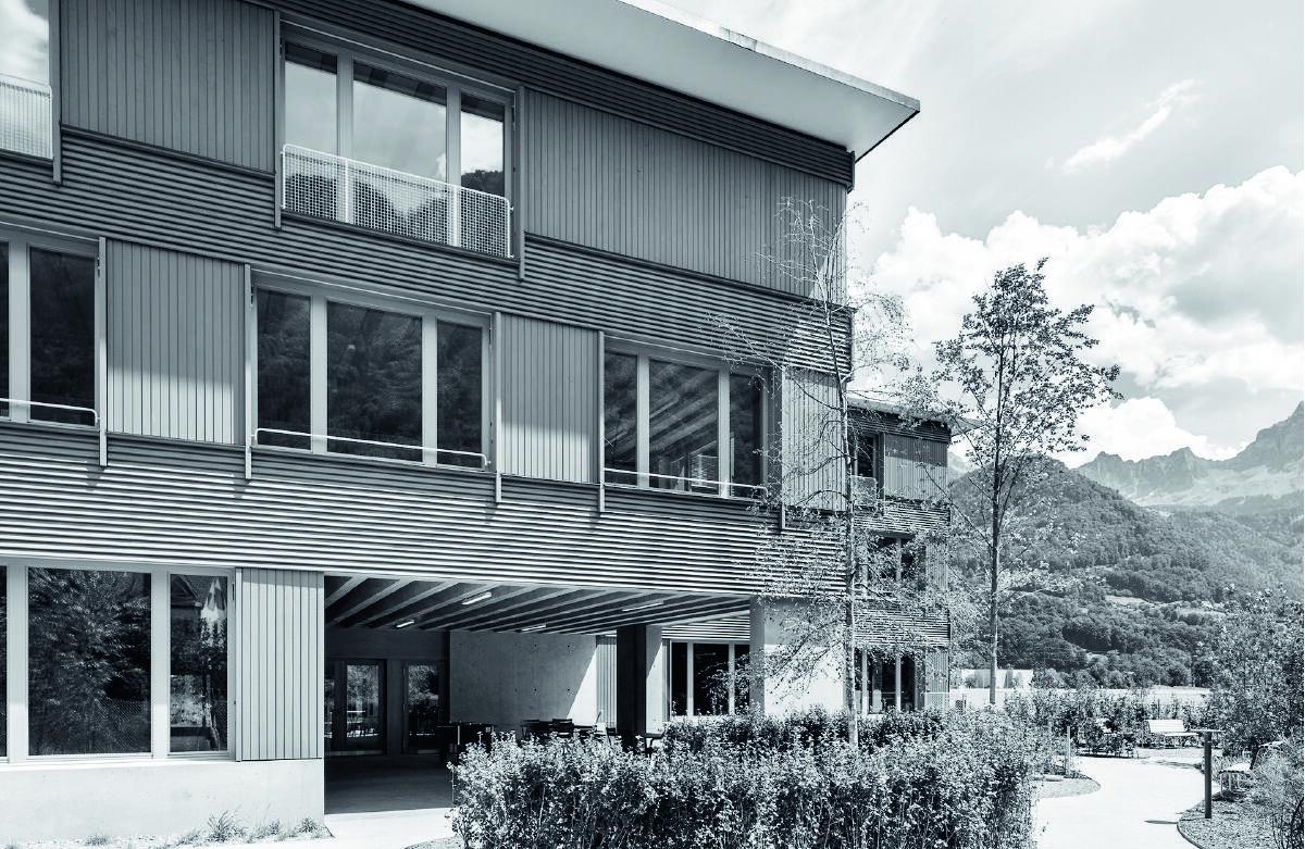Heilpädagogisches Zentrum Glarnerland, Oberurnen GL von ARGE HPZ und AMJGS Architektur. Bild: Martin Stollenwerk
