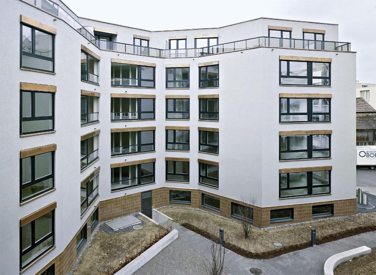 Siedlung Badenerstrasse Zürich, Hofansicht