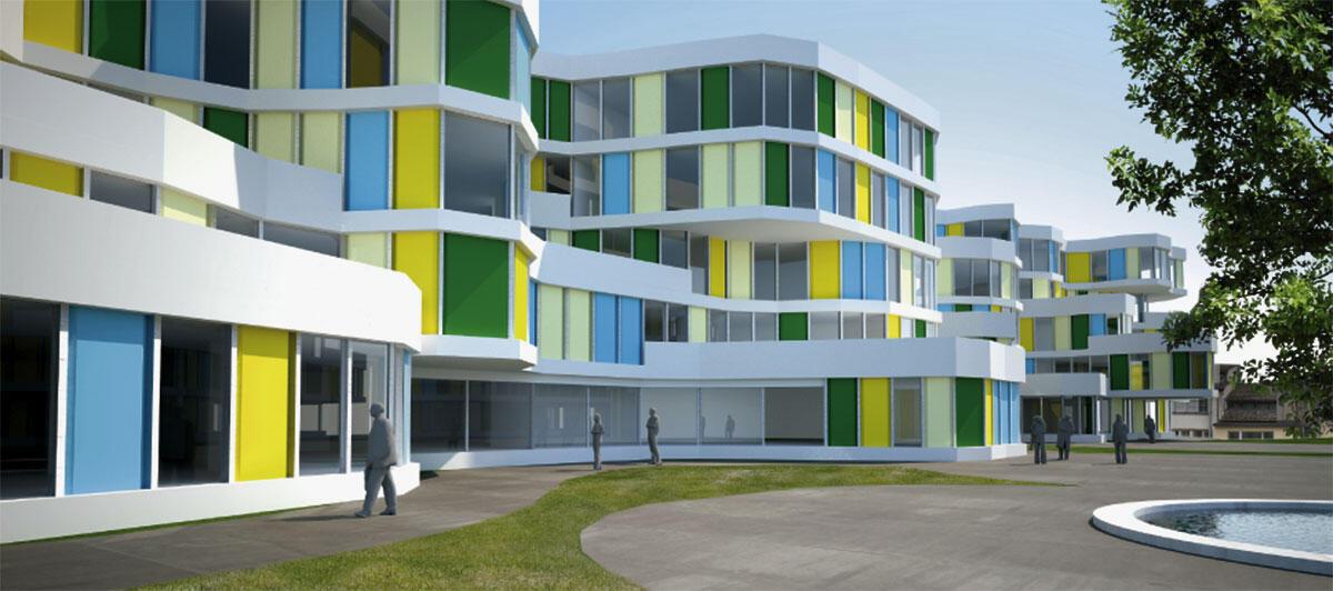 Wettbewerbsbeitrag von SLIK Architekten für die Überbauung Kalkbreite; Entwicklung des Bauvolumens mit Hilfe des Entwurfsautomaten Kaisersrot.