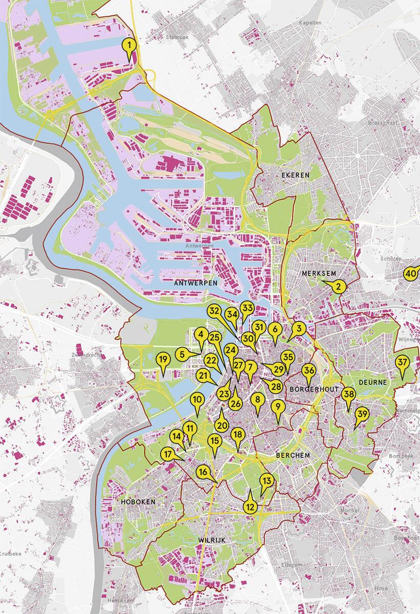 Architekturführer Antwerpen: 40 Adressen für den nächsten Besuch an der Schelde.