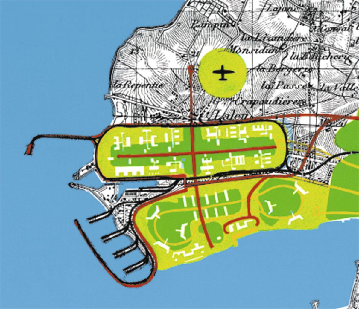 Die Moderne in Warteposition: Urbanisierung von La Rochelle-Pallice, Projekt von Le Corbusier 1945-46.
