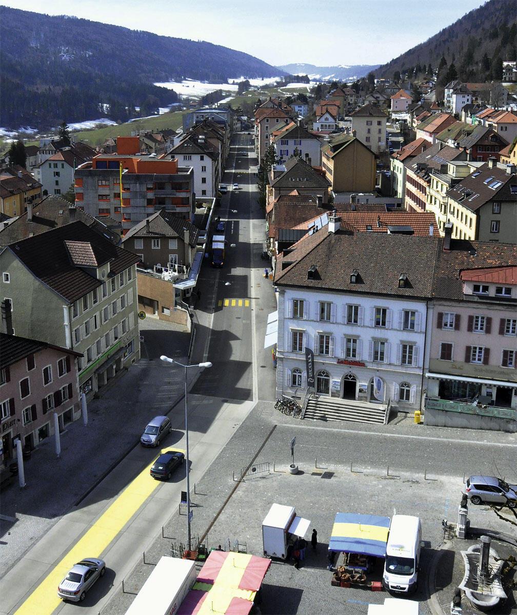 Die Ortsdurchfahrt in St. Imkier nach der Umgestaltung.