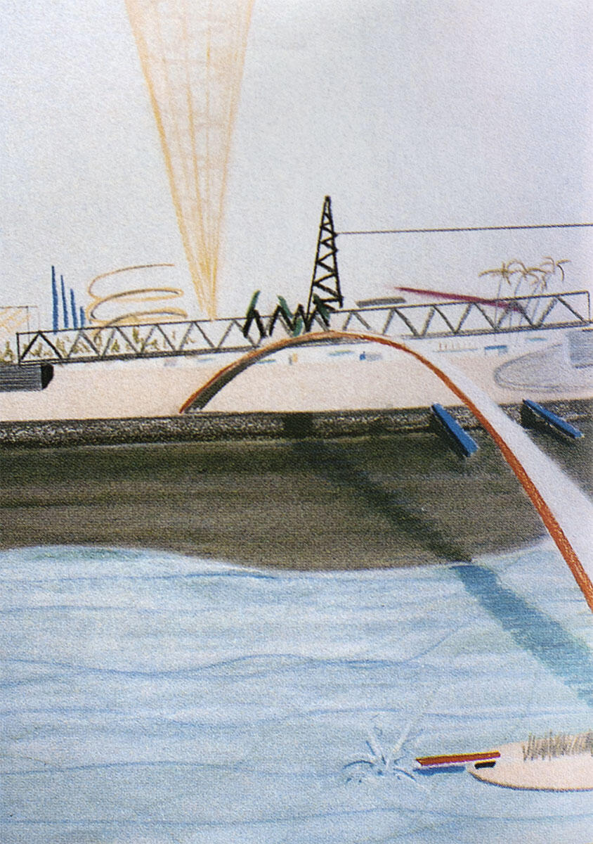 Wettbewerbsprojekt für die Exposition Universelle 1989 in Paris. OMA/Rem Koolhaas mit Elia Zenghelis, Kees Christiaanse u.a.