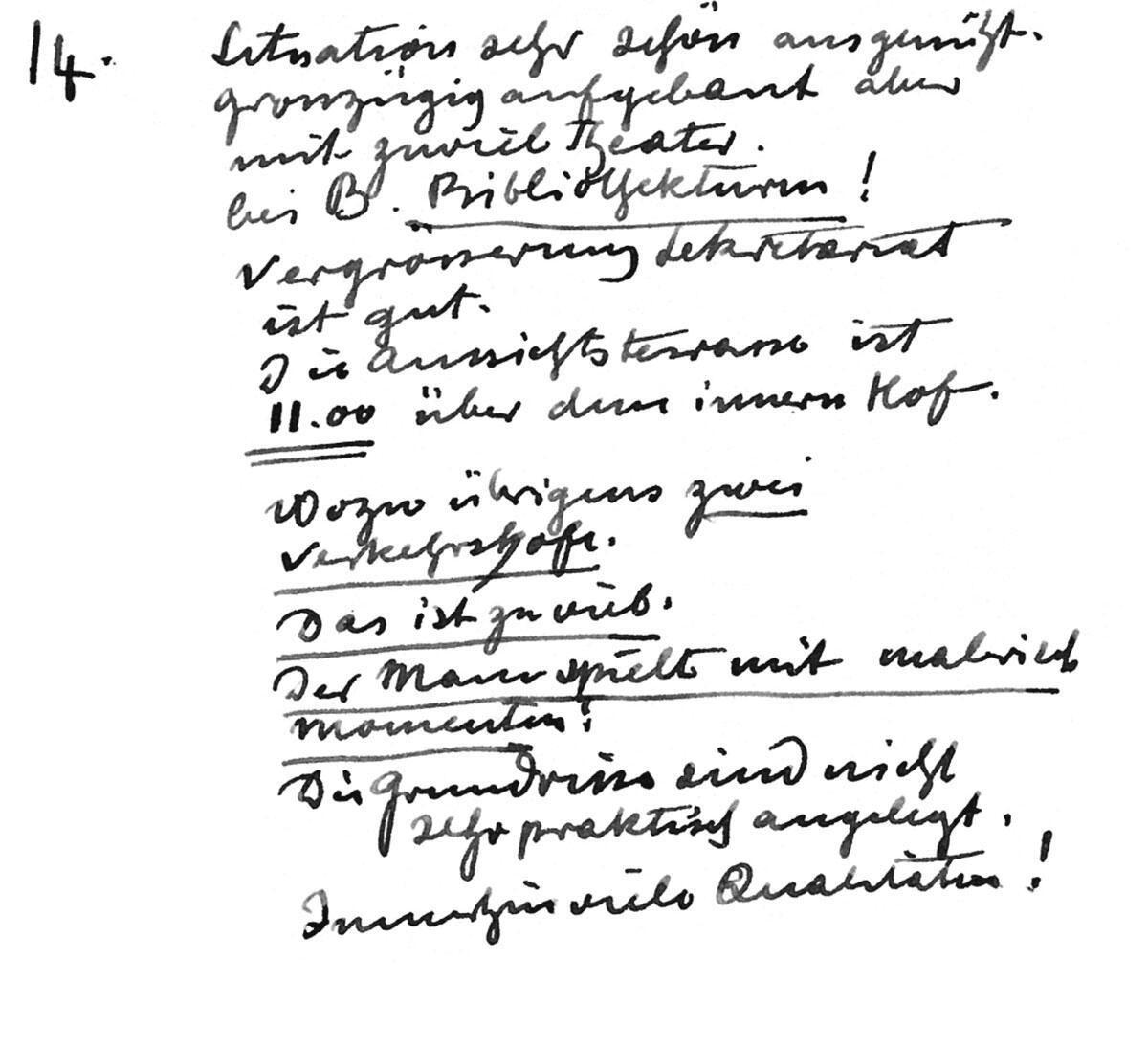 Aufzeichnungen aus den Jurysitzungen von Karl Moser