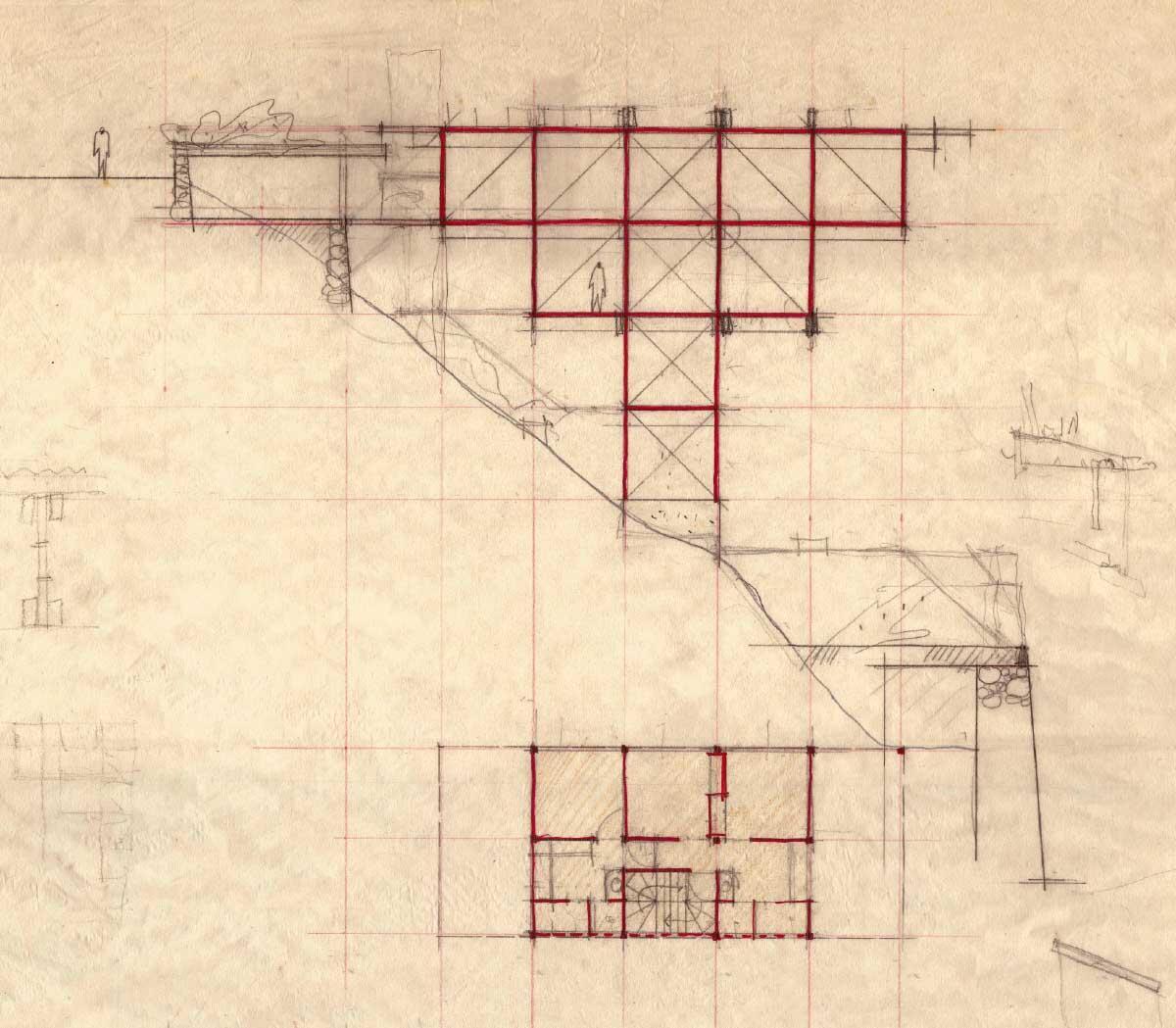 Entwurfskizze, Originalplan: Marcos Acayaba