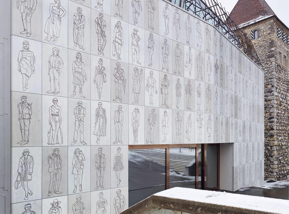 Eine Erzählung vom Ort: Figuren von Josef Felix Müller am Stadtmuseum Aarau (2016) von Diener & Diener und Martin Steinmann