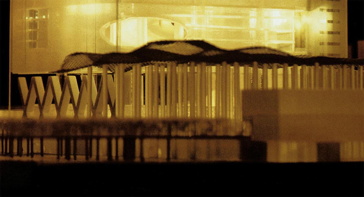 Modell der Très Grande Bibliothèque in Paris von OMA, 1989.