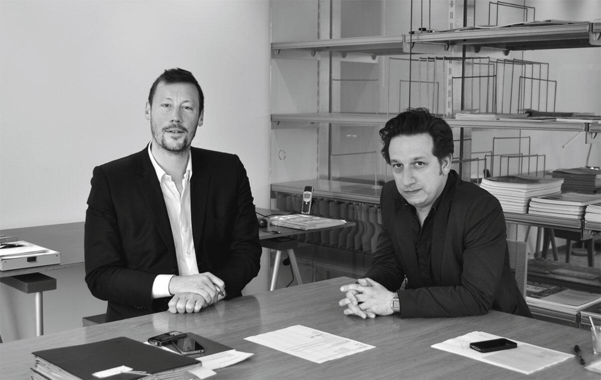 Peter Swinnen (links) und Stefan Devotere im Büro des Vlaams Bouwmeester in Brüssel-Nord.