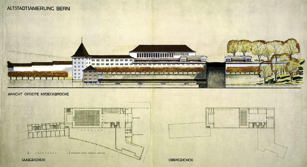 Otto Rudolf Salvisberg, Wettbewerbsprojekt mit Vereinslokalen und Restaurant, 2. Rang, 1931