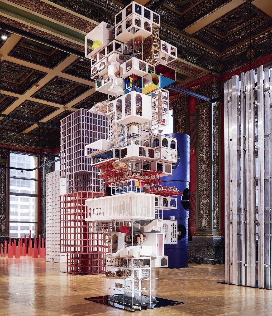 Tatiana Bilbaos Beitrag zur Architekturbiennale 2017 in Chicago (Not) Another Tower steht auch für die kollaborative Praxis in Mexico City: Sie schuf eine Struktur für die Teilprojekte von 15 noch wenig etablierten mexikanischen Kollegen.  Bild: Steve Hall