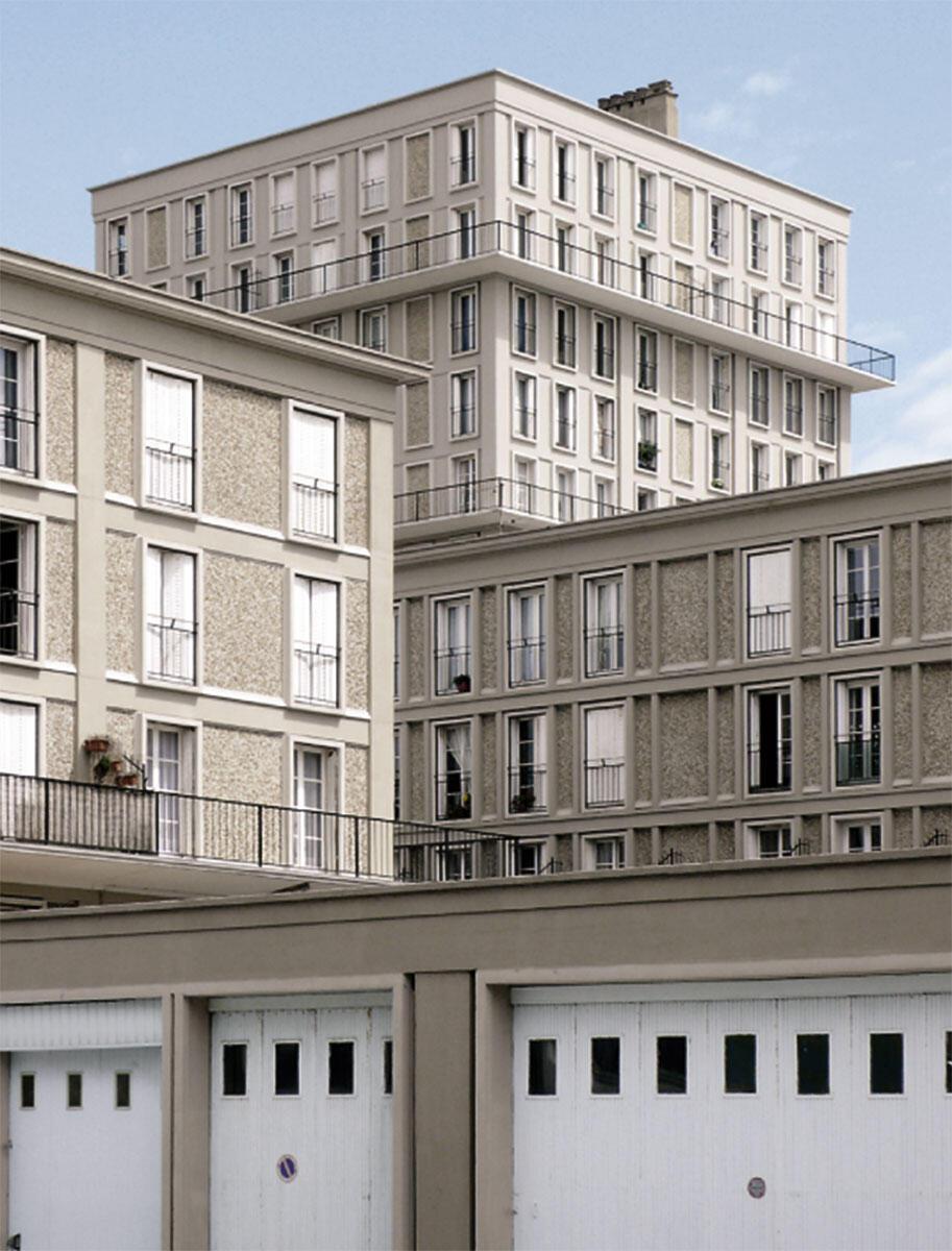 Blick aus der Rue de Paris auf die Hochhäuser der Front du Mer Sud.