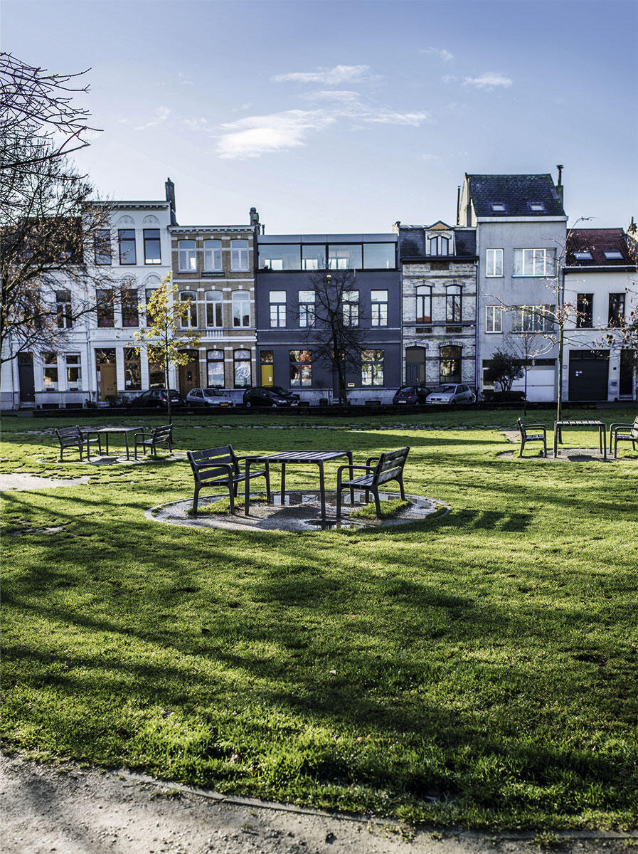 Der Krugerpark in Antwerpen, seit den 1980er Jahren der wichtigste Freiraum in Borgerhout.
