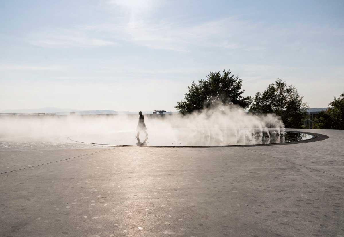 Das Grossprojekt finanzierte auch den kostbaren Landschaftsraum. «Himmelsplattform» im Butzenbüel-Park. Bild: Daniela Valentini