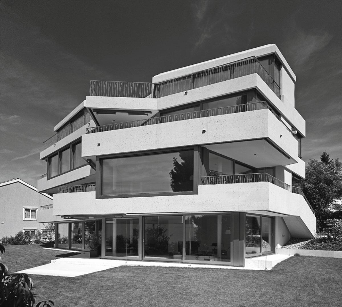 Ansicht von Norden: Wohnhaus Segantini von Baumberger & Stegmeier, Zürich