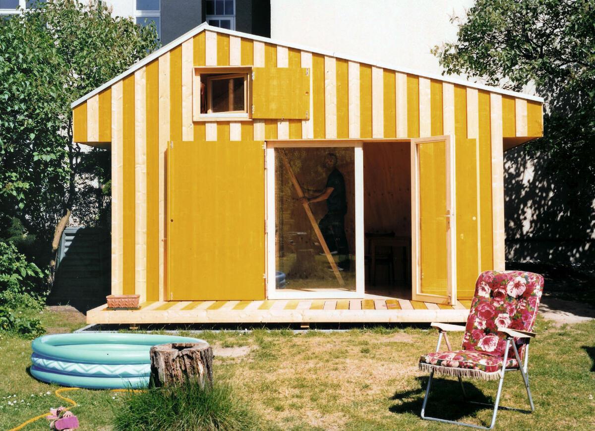 Die Mini-Gartenlaube MiLa des Berliner Architekturbüros «Hütten und Paläste».