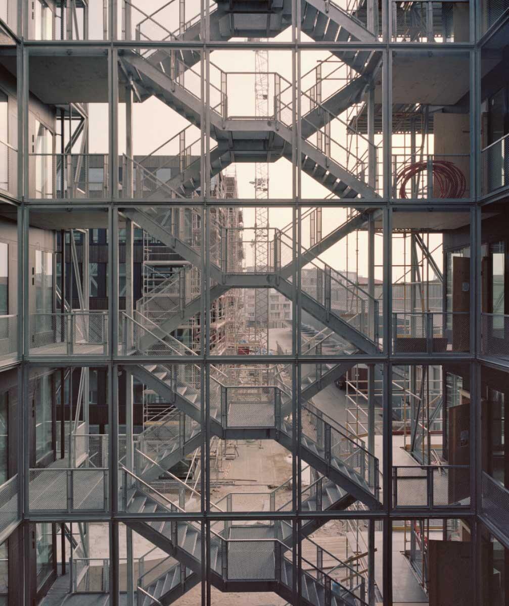 Die Treppenanlage der TAZ