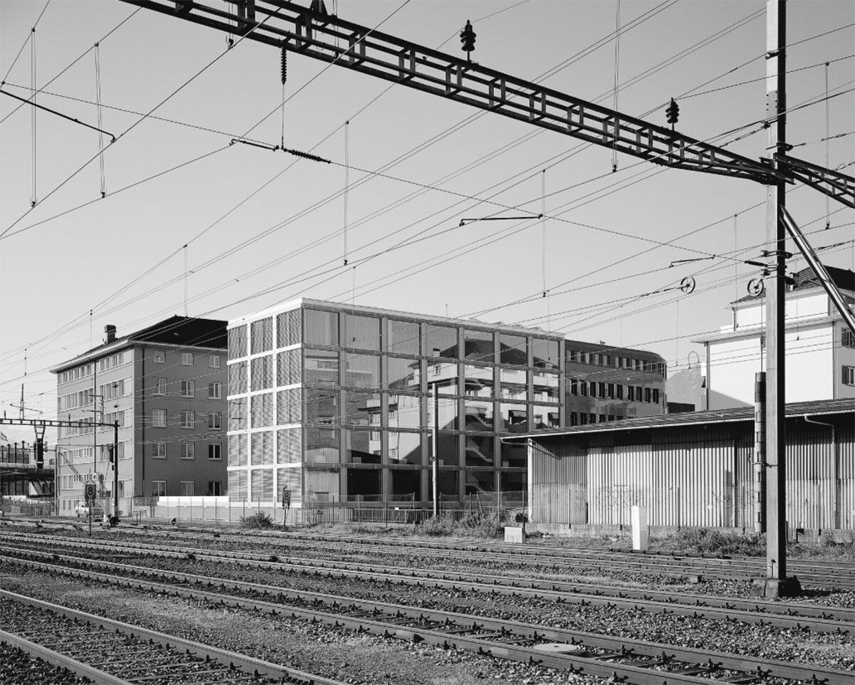 Sicht über die Gleise.