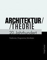 Cover Architekturtheorie 20. Jahrhundert