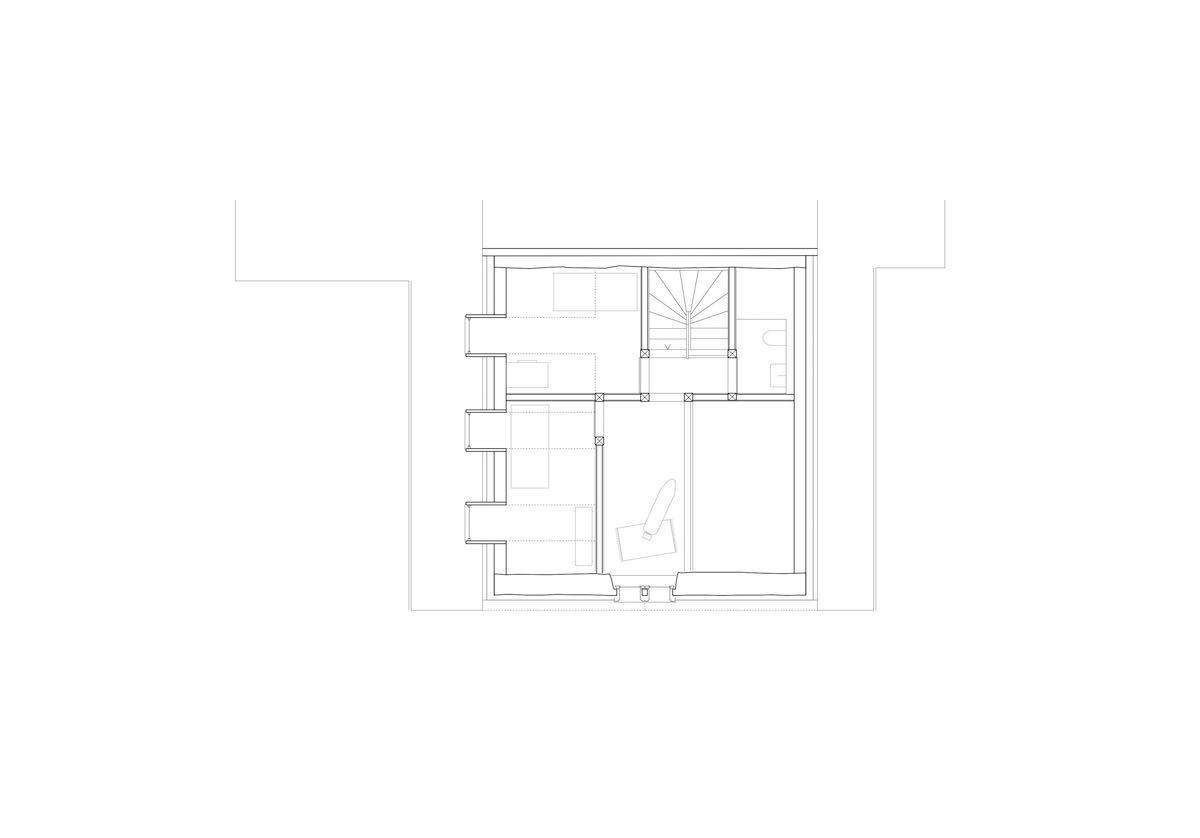 Im Dachgeschoss erhalten zwei Zimmer über die Dachgauben Sonnenlicht.