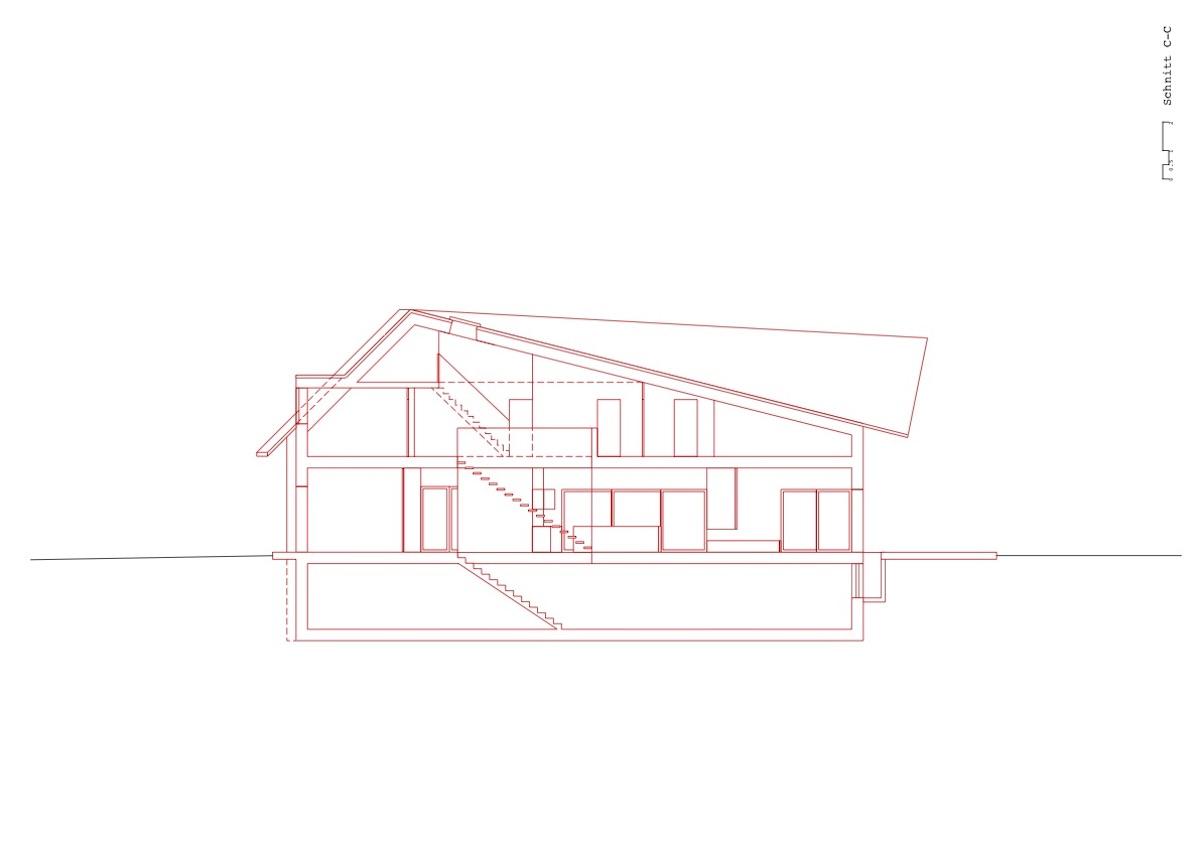 Haus Längsschnitt