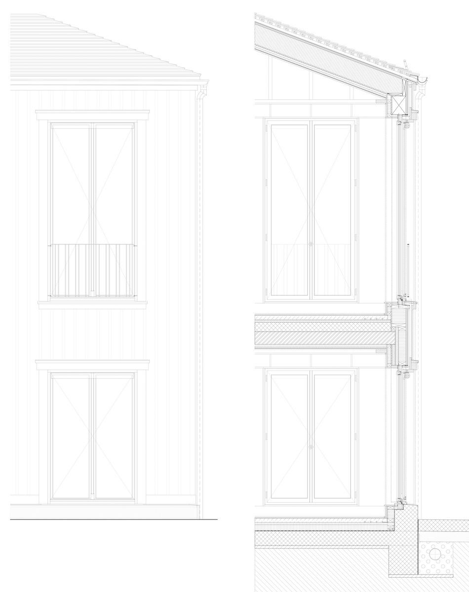 Sorgfältige Details ermöglichen die feine Anmutung des Holzkleids.