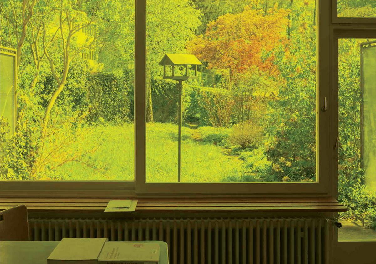 Blick aus dem Wohnzimmer des Experimenthauses
