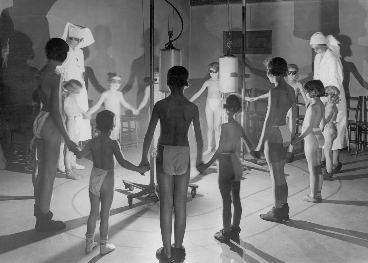 Enfants soumis aux rayons ultraviolets