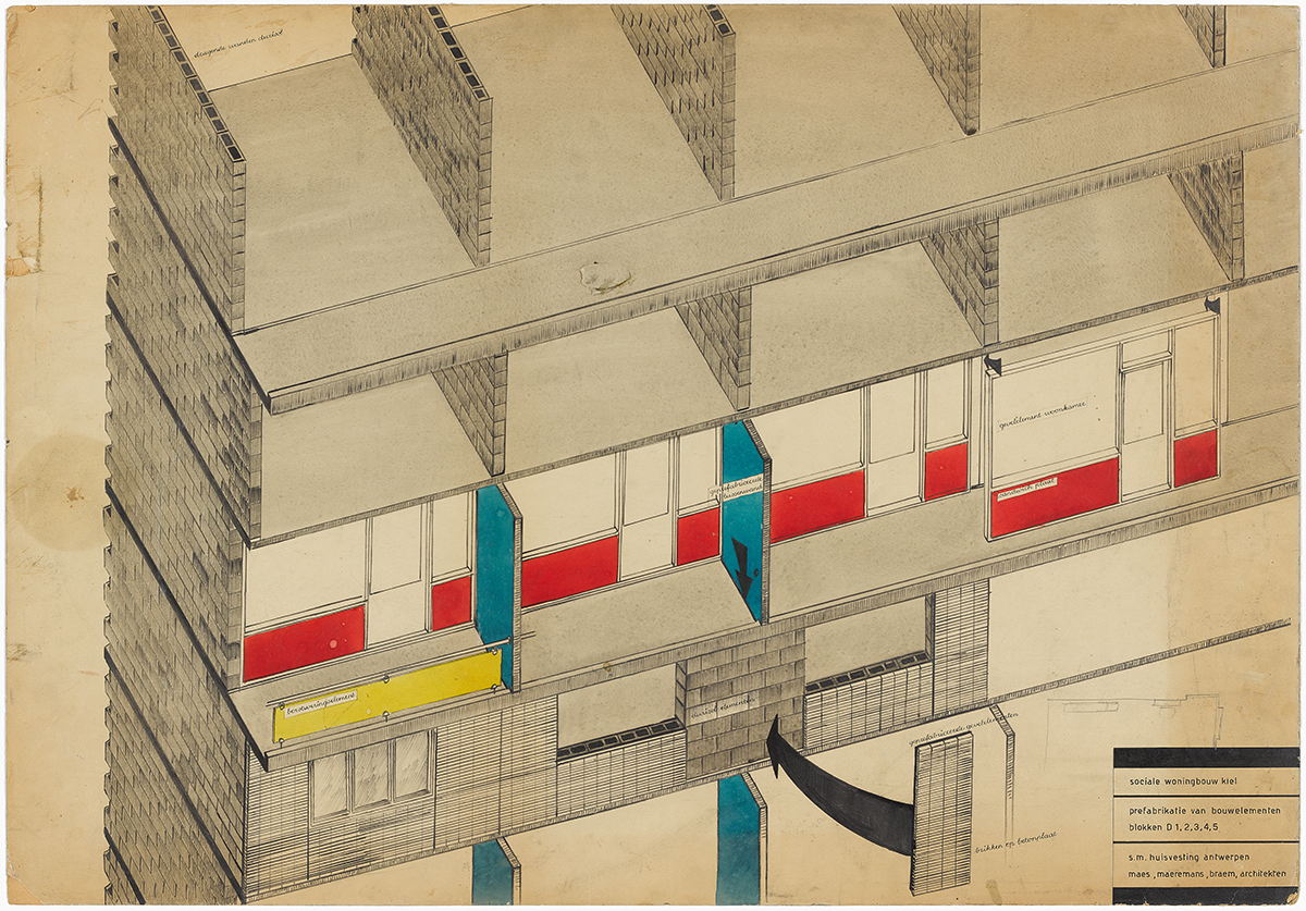 Renaat Braem Project for an apartment building for the housing complex Arena, 1955–1959 Antwerp, Belgium © CIVA Collections, Brussels